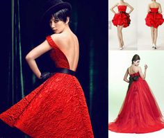 red prom dresses with black belt group