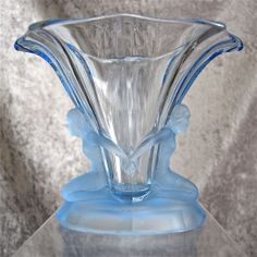 "Walther & Sohne ""Windsor"" Vase, Blue, Circa 1934"