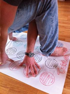 Playing Twister on a magic whiteboard? It doesn't work out well...