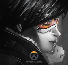 Overwatch Tracer, pierre Leissler on ArtStation at https://www.artstation.com/artwork/EbeLe