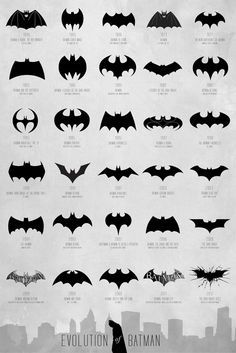 Evolución de los logos de Batman desde 1940.