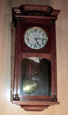 42a28cbfbe5 ANTIQUE Wall Clock Grandfather Clock Style 31