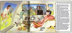 The living room of the year 2000, as envisioned in 1979. Usborne's World of the Future - Future Cities.