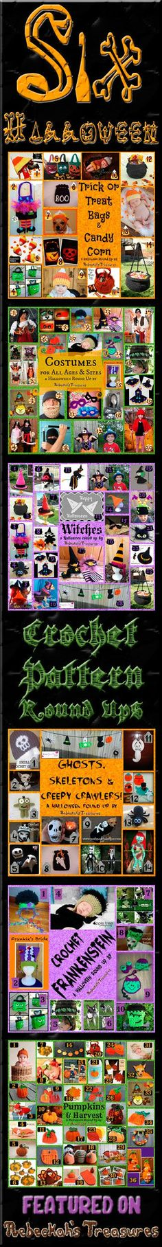 Six Halloween Crochet Pattern Round Ups via @beckastreasures - Featuring 26 designers and 100+ patterns!