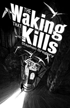JOANNA This effective book cover design is my Nico Delort, France. 'The Waking Kills' a dark novel about possession, the composition and angle is used in a way which creates a dramatic effect for the fictional story.