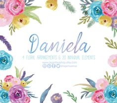Watercolor clipart, Floral Frame PNG, wedding bouquet, arrangement, bouquet…