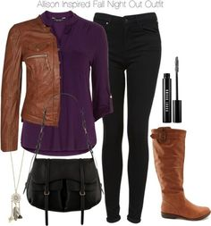 Dorothy Perkins blouse / Freaky Nation leather jacket, $200 / Topshop jeans / Charlotte Russe riding boots / Radley leather handbag, $485 / With Love From CA gold necklace / Bobbi Brown Cosmetics mascara