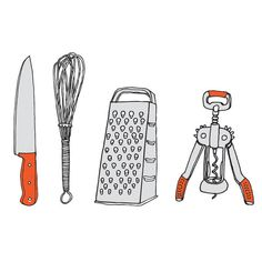 Kitchen utensils temporary tattoos by Julia Rothman on Tattly. I thought of you, @Rachel Ernst and @Laura Merritt.