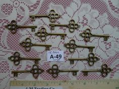 12 LARGE Replica Skeleton Keys A49 by COOLSTUFFGOODPRICES on Etsy, $5.99