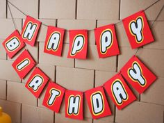 Happy Birthday garland for a lego themed birthday. Ideas, printables and dishes to find on www. Lego Birthday Banner, Lego Banner, Birthday Garland, Lego Birthday Party, 6th Birthday Parties, 7th Birthday, Birthday Ideas, Lego Movie Party, Lego Themed Party