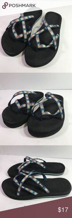 140d5adfa Shop Women s Teva Black Blue size 10 Sandals at a discounted price at  Poshmark.