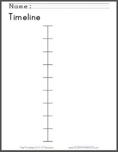 History Timeline Template To Print  History Timeline Text Color