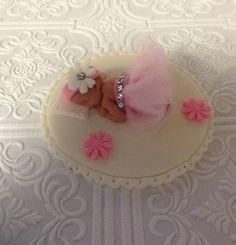 BABY SHOWER CAKE Topper Fondant baby Tutu by BabyCakesByJennifer