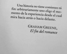 Electroshock Literario, Frases de Libros. The End of the Affair.