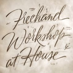 House Industries, House 1151, Freehand Lettering Workshop
