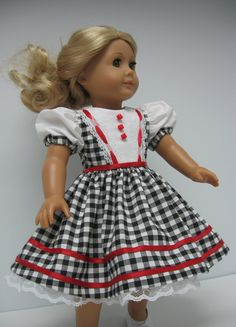 Classic black and white checked dress with by karenstinytreasures