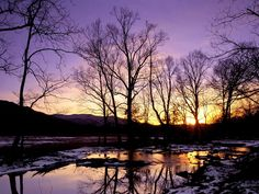 Winter Sunset, Cades Cove, Great Smoky Mountains
