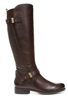 Naturalizer Women's Joan Wide Calf Boot (Brown) - Riding Boots