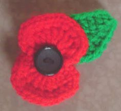 Crochet Flowers Patterns Lion Crafts Tutorials, Patterns and Inspiration: Crochet Poppy - Free Pattern Crochet Puff Flower, Crochet Flower Patterns, Crochet Designs, Knitting Patterns, Crochet Ideas, Crochet Appliques, Crochet Roses, Sewing Stitches, Crochet Tutorials