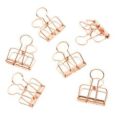 Copper Wire Binder Clips