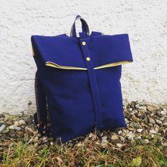 BACKPACK BLUE / YELLOW STRIPES von igou  auf DaWanda.com