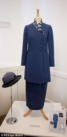 Royal blue: Lady Mary wore this coat with a floral collar following her honeymoon. Downton Abbey Season 3 [1920]