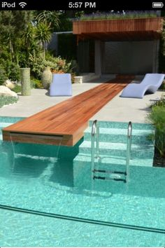 Built in slip in slide!! This will be in my house one day!!