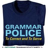 Grammar Police Shirts words