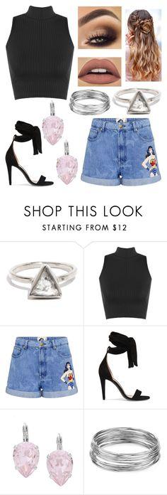 """""""The Woman Wonder"""" by zoemlucas ❤ liked on Polyvore featuring WearAll, Paul & Joe Sister, Off-White, L. Erickson and Aqua"""
