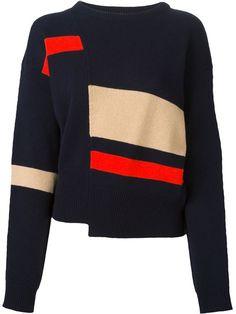 diagonal cut sweater