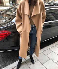 In the market for a new camel coat? Shop our editor's dream coat and 14 more affordable (but still very stylish) ones. Camel Coat Outfit, Style Simple, Street Style, Looks Cool, Lady, Coats For Women, Autumn Winter Fashion, Mantel, Winter Outfits