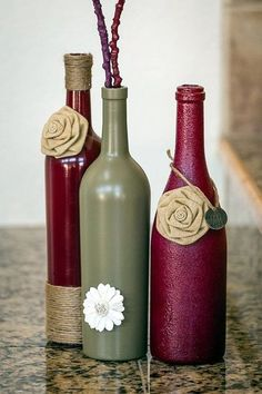 40 Diy Wine Bottle Projects And Ideas You Should Definitely Try . 40 DIY Wine Bottle Projects And Ideas You Should Definitely Try diy crafts empty wine bottles - Diy Wine Bottle Crafts Empty Wine Bottles, Wine Bottle Corks, Painted Wine Bottles, Diy Bottle, Wine Bottle Crafts, Bottles And Jars, Jar Crafts, Glass Bottles, Decorate Wine Bottles