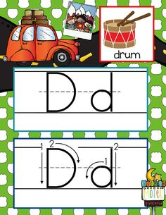 ROAD TRIP Theme Classroom Decor / ABC Cards with illustrations / Handwriting / font: ABC print / JPEGS and PDF / ARTrageous Fun