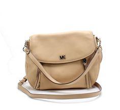 b8e77dfdf9d7 Michael Kors NEW Butternut Gold Evie Pebble Leather Shoulder Bag $278- #030  #fashion #clothing #shoes #accessories #womensbagshandbags (ebay link)