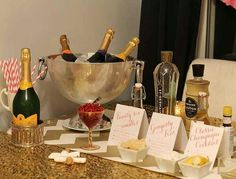 champagne bar nye party ideas