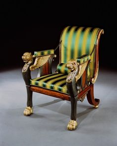 A REGENCY PARCEL GILT ROSEWOOD AND BRONZE PAINTED RECLINING CHAIR DESIGNED BY WILLIAM POCOCK (440788) (England)