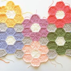 Crochet weekender blanket wip