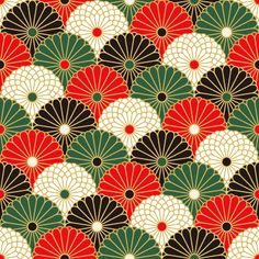 Japanese textile, also seen on washi.