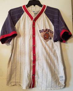 L Mirage Cooperstown Collection Atlanta Milwaukee Braves Baseball Jersey #Mirage #MilwaukeeBravesAtlantaBraves