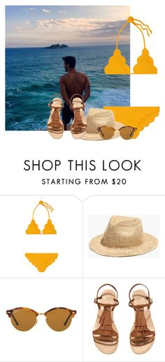 """Bez naslova #5999"" by unorthodox-1 ❤ liked on Polyvore featuring Marysia Swim, Madewell, Ray-Ban and H&M"