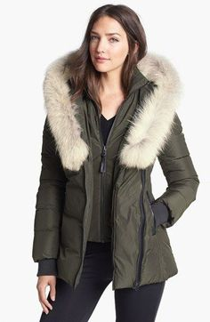 Mackage 'Adali' Genuine Coyote Fur Trim Down Coat available at #Nordstrom