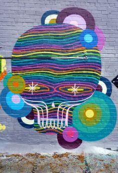 OKUDA http://www.widewalls.ch/artist/okuda/ #okuda #streetart #urbanart #mural