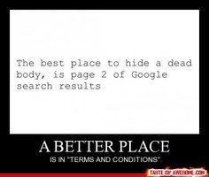 Dove nascondere un cadavere...