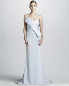 Strapless Gown with Structured Bodice by Notte by Marchesa at Neiman Marcus.