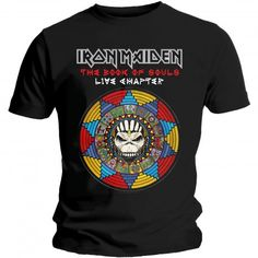 Tricou Iron Maiden: Book of Souls Live Chapter - MetalHead Merch Iron Maiden T Shirt, High Quality T Shirts, Band Tees, Train Hard, Vintage Shirts, Cotton Tee, The Beatles, Shirt Outfit, The Book