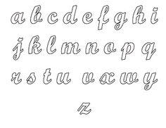 molde de letras cursivas - Pesquisa Google