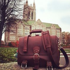 Heading out to Boston College.| Saddleback Leather Co. | Classic Briefcase | 100 Year Warranty | $568 - 664
