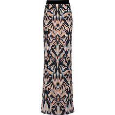 Just Cavalli Printed crepe de chine maxi skirt (1,095 AED) ❤ liked on Polyvore featuring skirts, multi, long maxi skirts, long ankle length skirts, multi color skirt, colorful skirts and long colorful maxi skirts