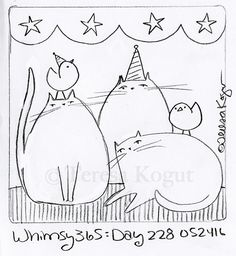 whimsy 365 day 228 052416 Cross Stitch Embroidery, Embroidery Patterns, Hand Embroidery, Coloring Books, Coloring Pages, Primitive Stitchery, Quilting, Punch Needle Patterns, Rug Hooking Patterns