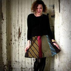 recycled necktie skirt